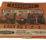 The Easy Chute Construction Demolition Chute weighing only 3 lbs per 10ft Section